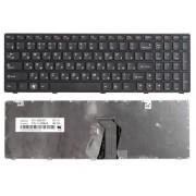 Клавиатура Lenovo IdeaPad G580, G585, G780, V580, Z580, Z585, Z780, 25201827, 25201857, 25201887, 25204263, 25204353, 25012349, 25012436, 25012404 Черная, с рамкой